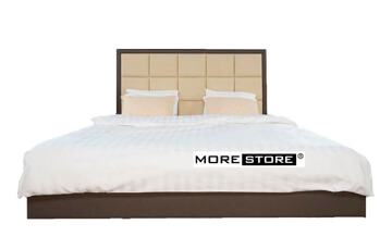 Picture of Giường ngủ bọc da đầu giường kẻ ô vuông